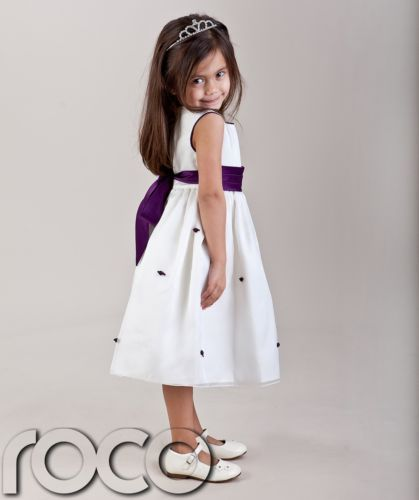 355dcb1d9 Details about GIRLS IVORY CADBURYS PURPLE FLOWER GIRL DRESS 18M-10YRS | The  big day | Flower girl dresses, Purple flower girls, Purple bridesmaid  dresses
