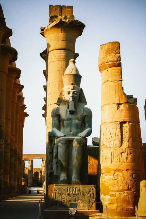 Luxor Temple The Great Court of Ramesses II with…