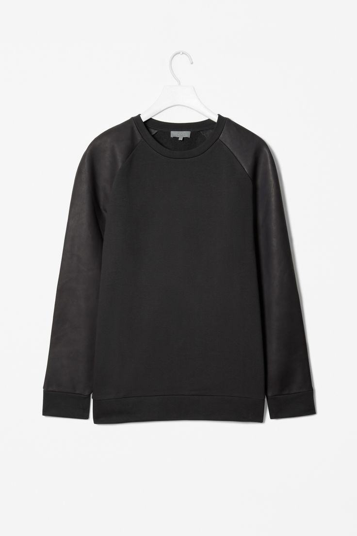 COS // Leather Sleeves Sweater