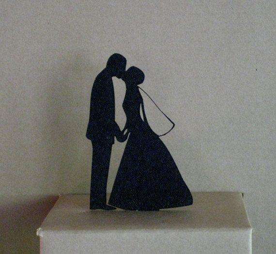 Wedding Cake Topper Heart Cake Topper by Plasticsmith on Etsy