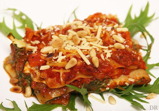 Lasagne met courgette en snijbiet