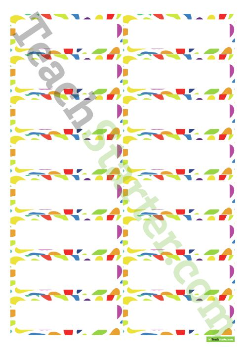 Desk Name Tags – Rainbow Colours Teaching Resource