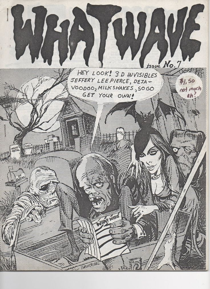 London Ontario's What Wave music zine (issue September 34 pages, 8 ½' x  contained the shit on The Gun Club's Jeffery Lee Pierce, Deja-Voodo, The  Invisibles, ...