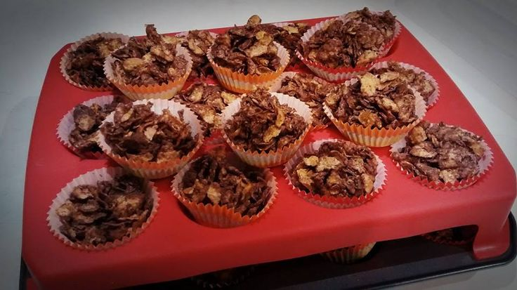 NZ kiwi birthday party classic: chocolate crackles.  Just 4 cups of cornflakes, 180 grams melting chocolate, 1tsp oil, mix gently until coated. Quickly spoon into cases before the chocolate sets!  However if the chocolate does set, you can warm the cornflake mixture up in the microwave briefly.