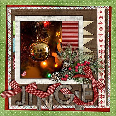 Jingle Layout. but I'd have a photo with people or journaling on this page at least.