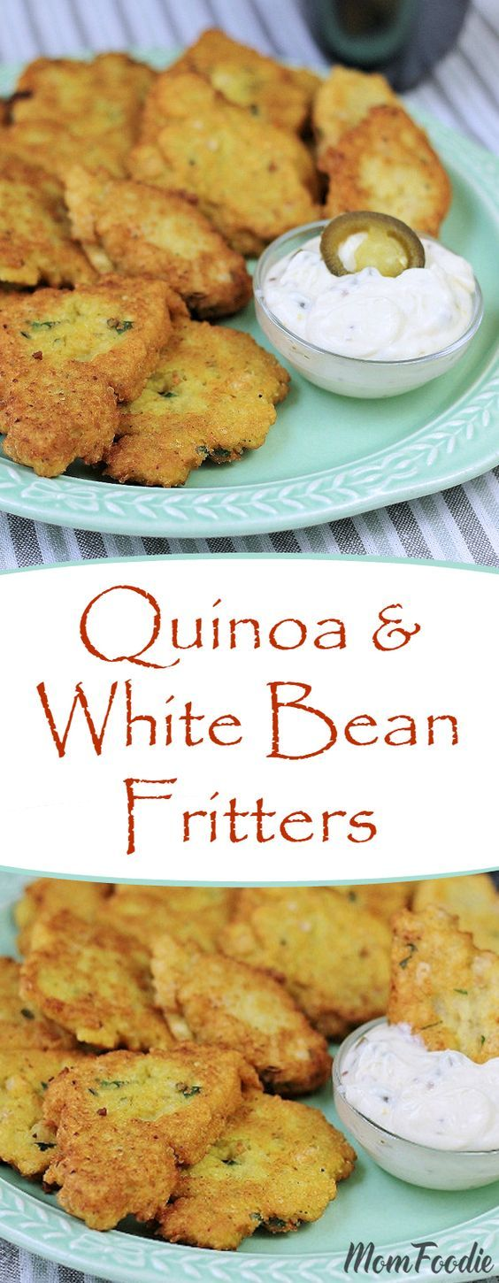 This quinoa and white bean fritter recipe is both gluten free and vegetarian.
