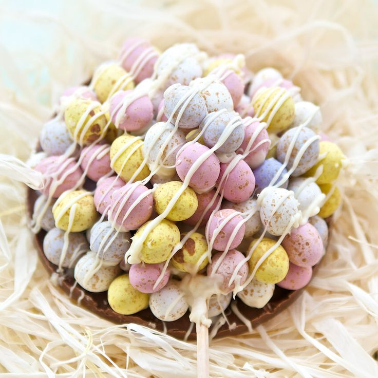 Giant Chocolate Mini Egg Lollipop makes a unique chocolate gift for the real chocolate lover. Perfect for the candy lover with a sweet tooth by MeandMooSweets on Etsy https://www.etsy.com/uk/listing/228435701/giant-chocolate-mini-egg-lollipop-makes