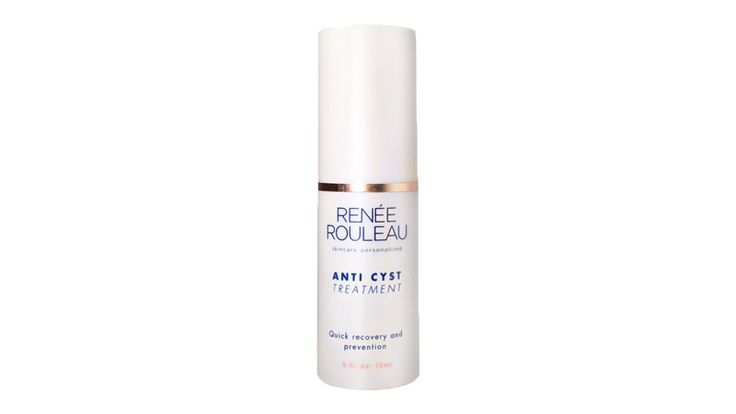 Renée Rouleau Anti-Cyst Treatment is a little bottle of magic. Dab a dot on any forming cysts or pimples and it makes a huge difference by the next morning.