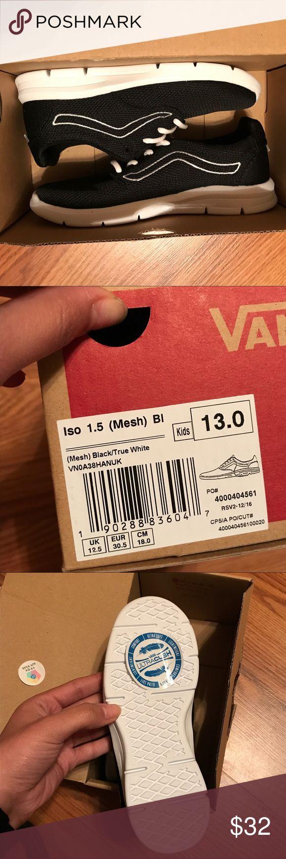 new never worn little boy vans new little boy vans size 13 Vans Shoes Athletic Shoes