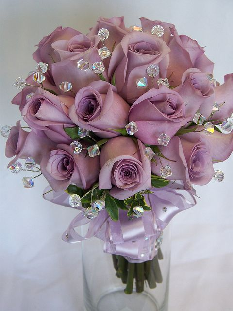 Prom Nosegay Lavender Prom Bouquet With Crystals