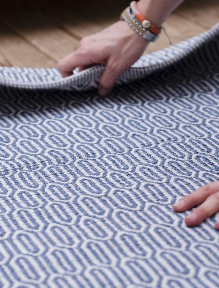 Blue patterned floor runner from Skandihome. Interior ideas for any aspiring Scandinavian home.