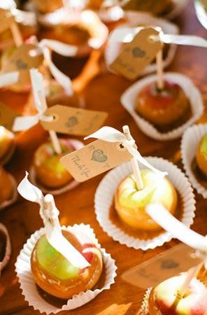 Caramel Apples Wedding Labels