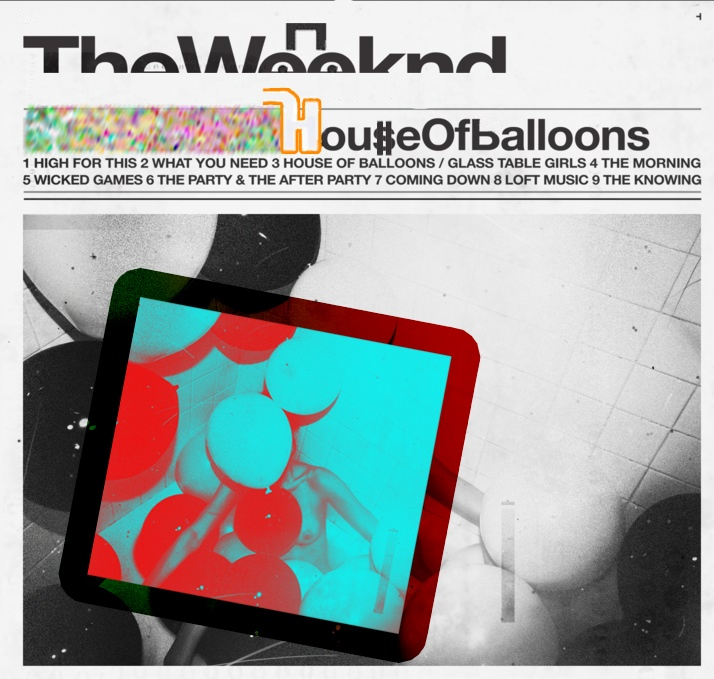 The Weeknd House of Balloons album cover re-imagined