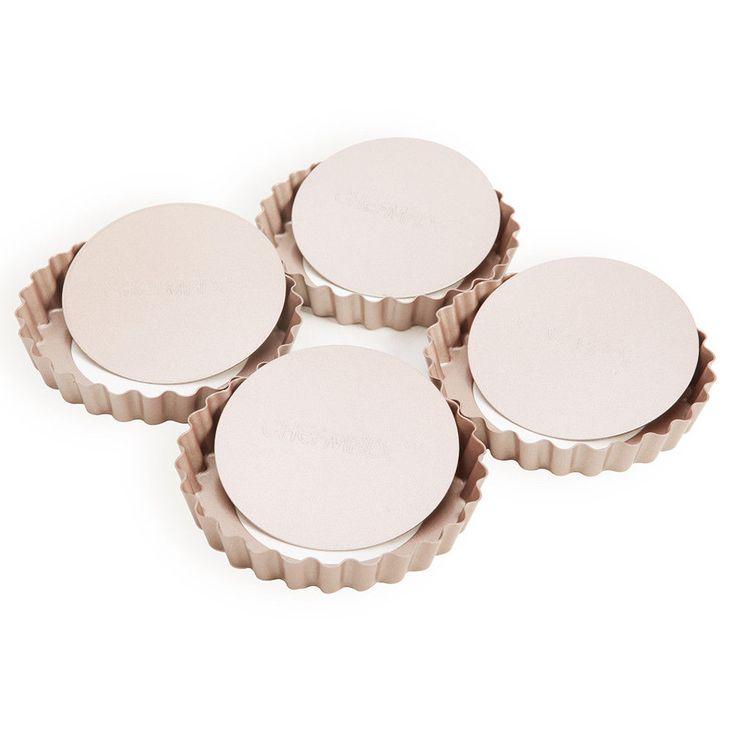 4PC Mini Non-stick Springform Round Tart Quiche Pan Cake Spring Form Pan Mold  #Unbranded