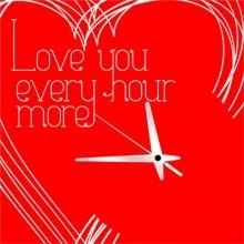 Nice clock for lovers :)
