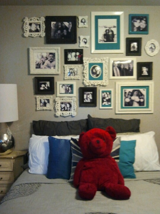 Picture collage headboard !