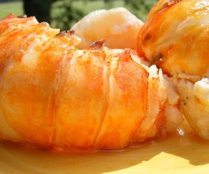 Oven baked butter-poached lobster.Butter poaching is an excellent way to get the maximum flavor from frozen seafood. Delicious!!!