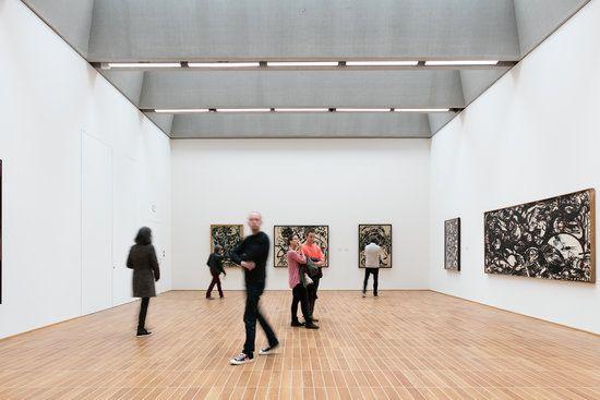 Ausstellungsansicht «Der figurative Pollock», Foto: Julian Salinas