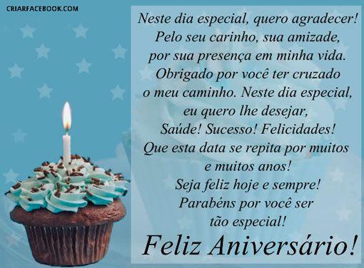 Mensagem Feliz Aniversario Para Facebook