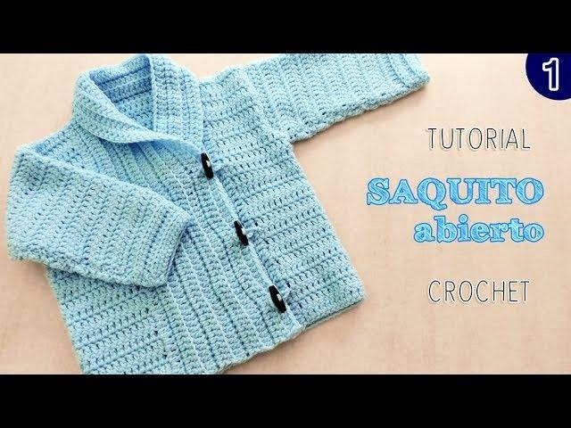 DIY Abrigo saquito UNISEX tejido a Crochet - VARIOS TALLES   Parte 1 de 2