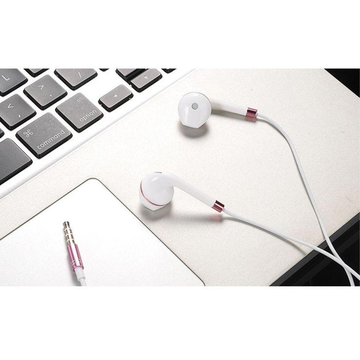 Écouteurs Urban intra-auriculaires avec micro - Blanc / Or Rose