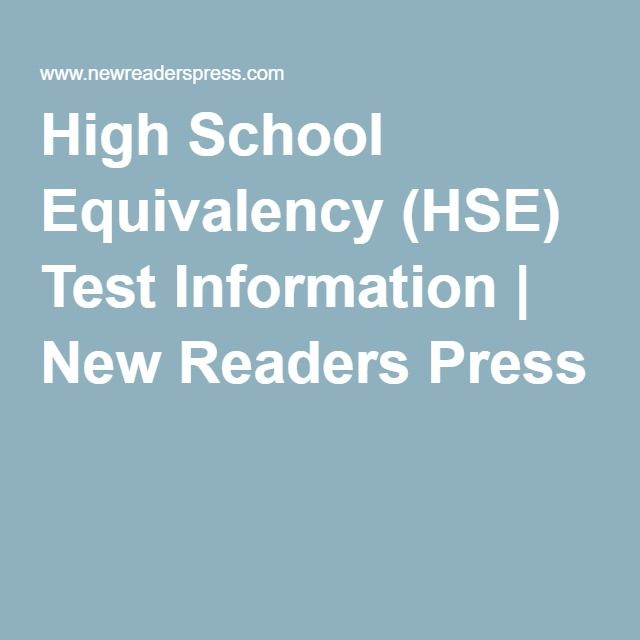 High School Equivalency (HSE) Test Information | New Readers Press