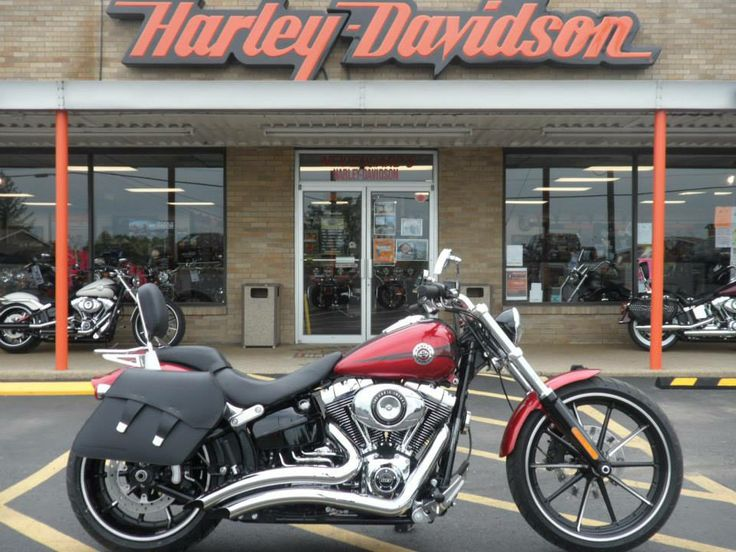 """2013 FXSB""""Breakout"""" Ember Red Performance exhaust and air cleaner,detachable saddlebags,backrest"""