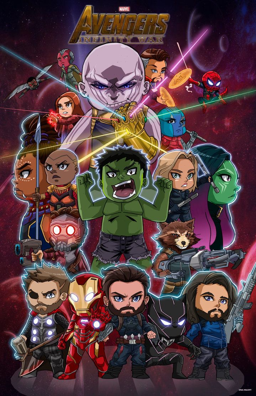Chibi Avengers Infinity War By Https Www Deviantart Com Fantasiesandfathoms On Deviantart Avengers Cartoon Avengers Drawings Chibi Marvel