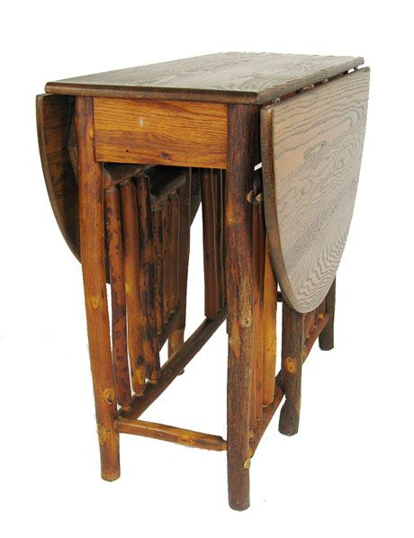 old hickory gateleg table in my sisters cabin · Old Hickory FurnitureCedar  FurnitureAntique ... - 140 Best Adirondack...Old Hickory...Twig Images On Pinterest DIY