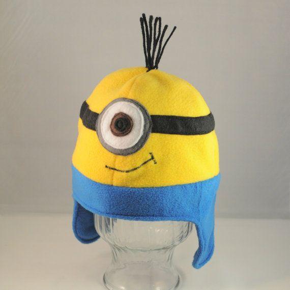 Minion Fleece Hat  SIngle Eye by TheCraftEGalShop on Etsy, $20.00