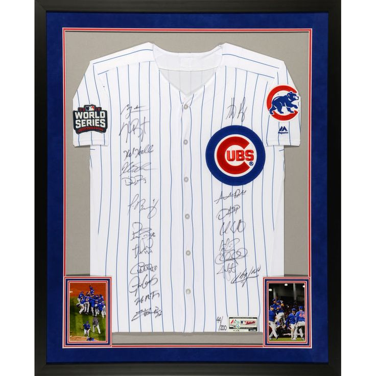 Chicago Cubs Fanatics Authentic 2016 MLB World Series Champions Deluxe Framed Team Signed White Authentic World Series Jersey with 20 Signatures - Limited Edition of 200