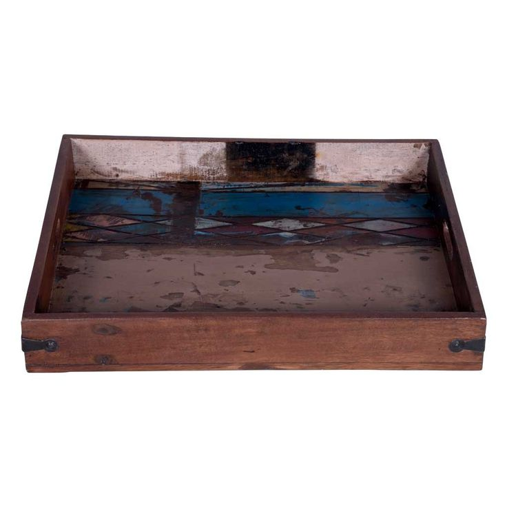 Rectangular Rustic Serving Tray with Handles