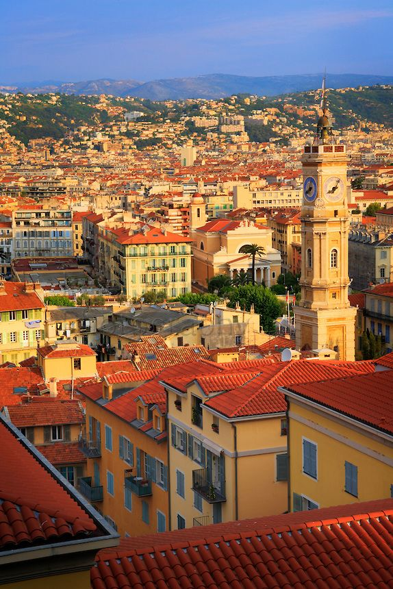 Buildings in the old town part of Nice, France My favorite vacation spot. Love the people and atmosphere here