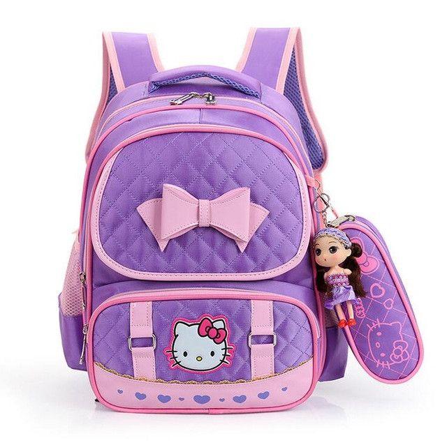 High Quality Hello Kitty Girl School Bag Waterproof Primary Backpack Kid Bag Lovely Boby Bag