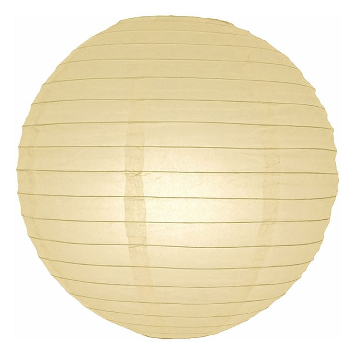 Even Ribbed Paper Lantern in Beige - 12in.  Diameter