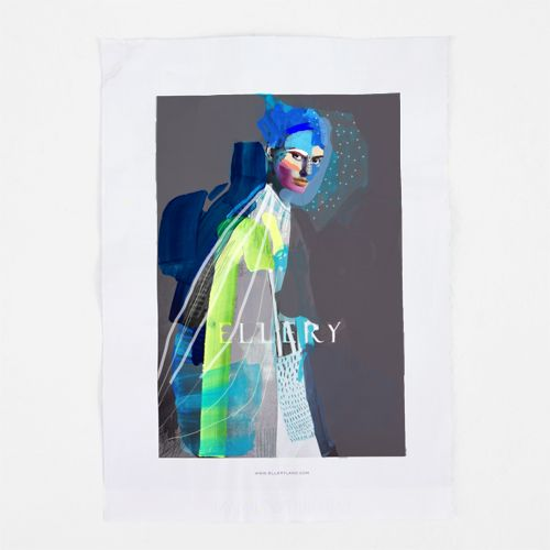fashion illustration + collage on paper / erin flannery [erinart.net] #ellery