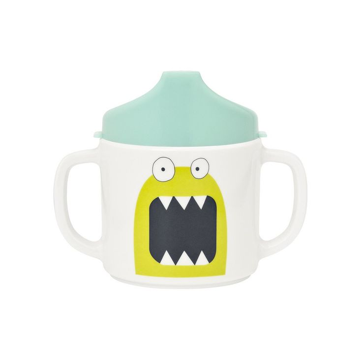 Great for little ones, these charming Lassig 4Babies & Kids Sippy Cup with handles will add fun, fresh colour and design to any toddler's meal routines. The simple lid comes off for easy cleaning, and the handle cup will grow with any kid. The Bouncing Bob green monster is adorably illustrated and would be a great gift for any baby shower, or as a special something for that oh so cute and charming kid in your life.