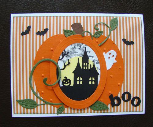 Stampin Up Handmade Halloween Card Haunted House Ghost Pumpkin | eBay