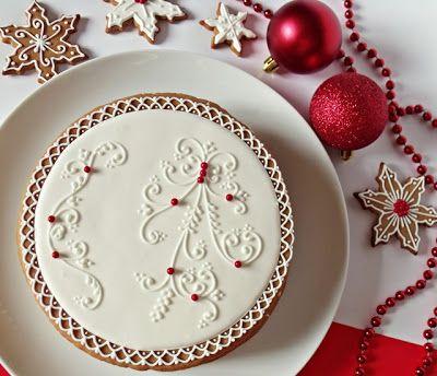 Citromhab: Mézeskalács torta