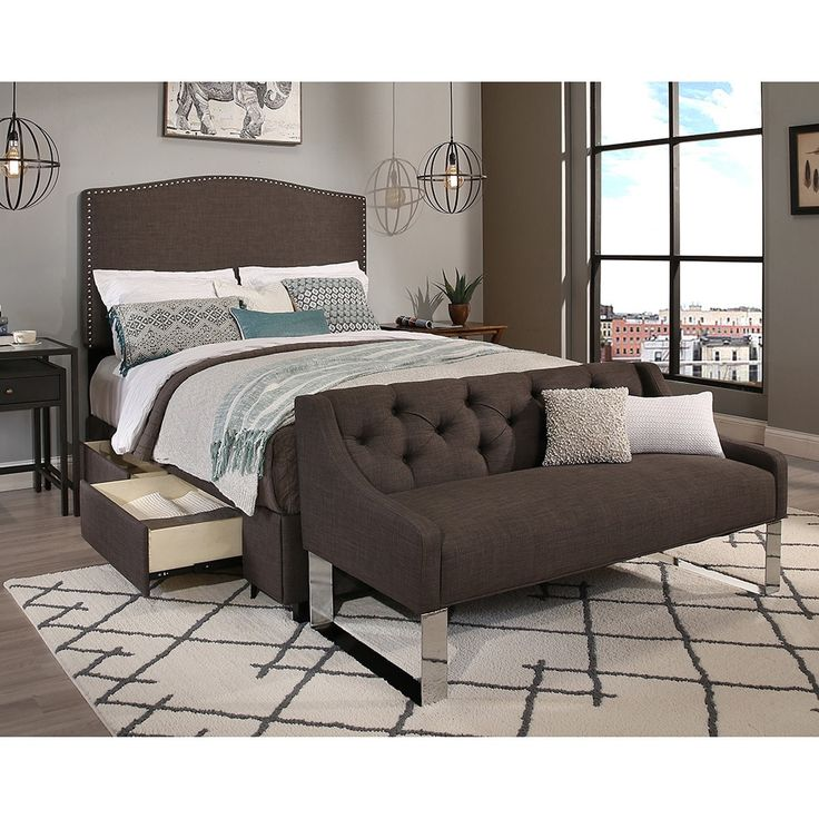 Image Result For Newport Gray Tufted Bed Full