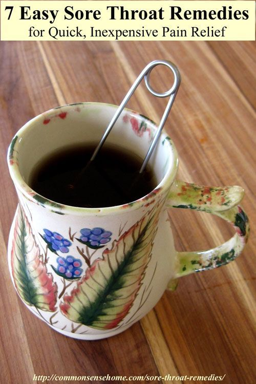 Natural remedy for sore throat pain