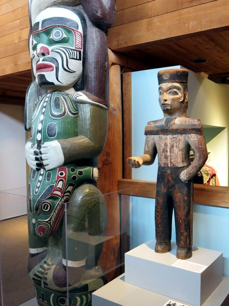 In the late 1800s this figure currently at the U'mista Cultural Centre in Alert Bay, British Columbia, Canada, would have welcomed guests to potlaches.