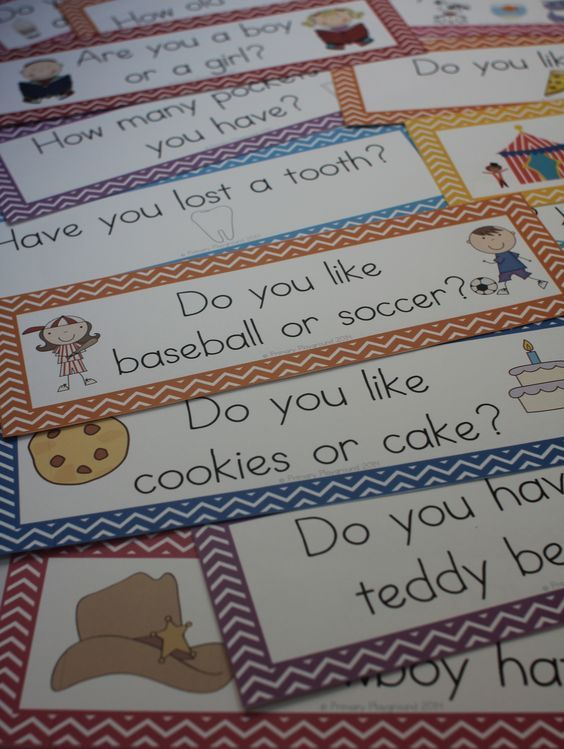 Help your beginning readers feel successful by using the unique questions of the day - they feature common sight words, making them easy to read!:
