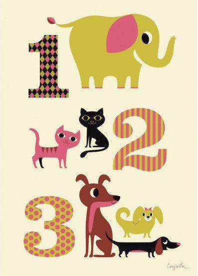 Plakát 50x70 s číslicemi 1 2 3