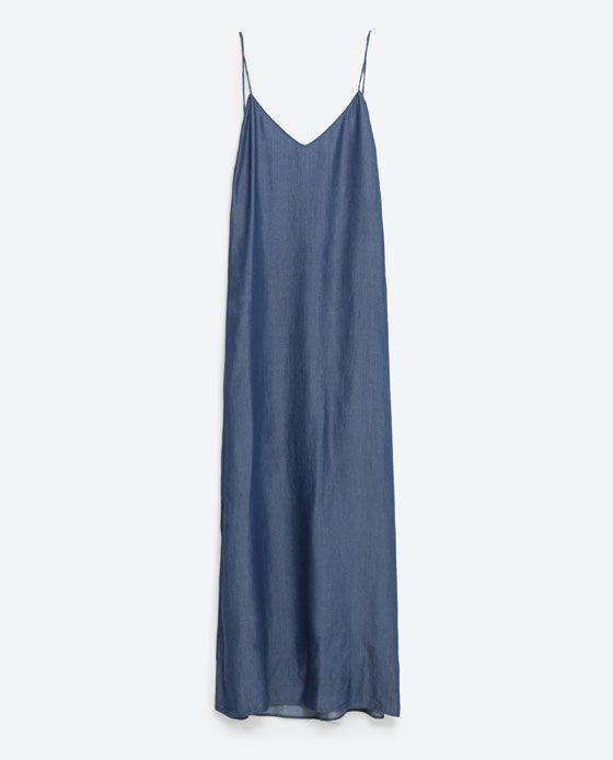 #Denim #longdress #Zara
