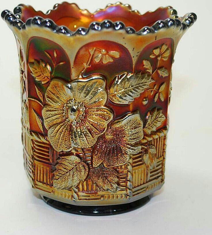 Vintage Carnival Glass Spooner, Northwood