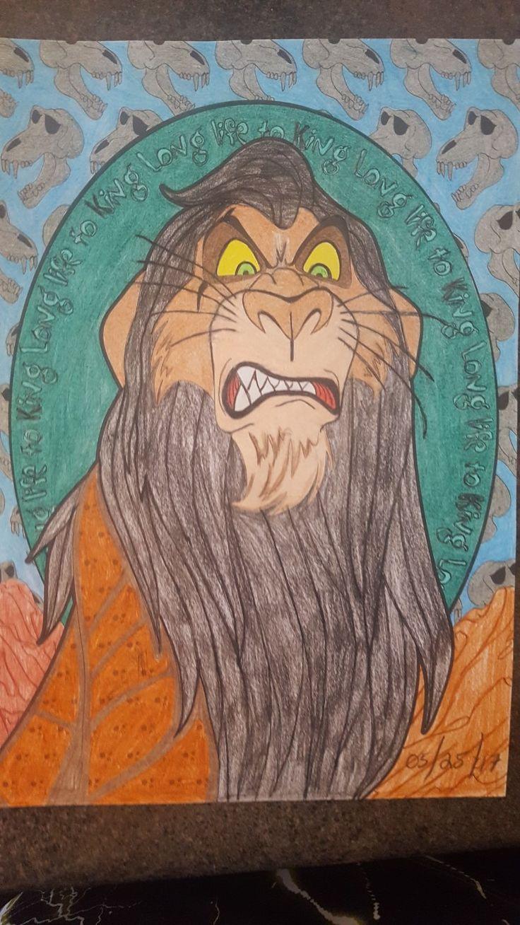 Scar - The Lion King -Disney Villains Coloring Page