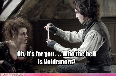 Johnny Depp and Helena Bonham Carter. Hahahaha