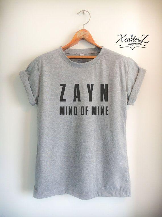 ZAYN Mind of Mine ZAYN Shirt 1D Print on Front side Men Women Unisex T-Shirt White/Black/Grey/Red