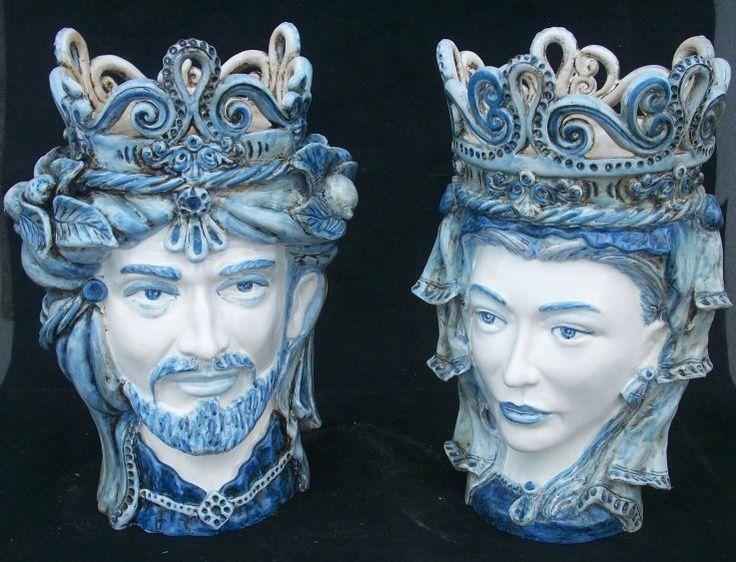 """Sicilian Ceramic Heads """"Teste di Moro"""""""